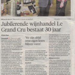 Jubilerende wijnhandel Le Grand Cru bestaat 30 jaar